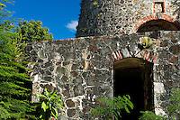 Catherineburg Ruins.Virgin Islands National Park.St. John, U.S. Virgin Islands
