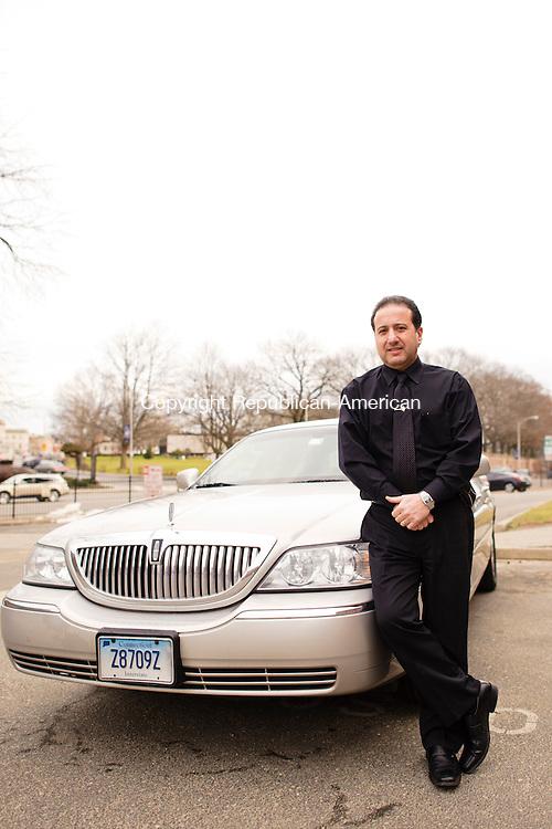 WATERBURY, CT - 15 January 2013-011513EC04--     Tony Pesce and his Town Car.  Erin Covey Republican-American.