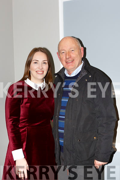 New Kerry GAA PRO Leona Twiss with her father John at the Kerry GAA County Board Convention in the INEC on Monday night