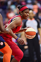 Washington, DC - June 3, 2018: Washington Mystics forward Myisha Hines-Allen (2) in action during game between the Washington Mystics and Connecticut Sun at the Capital One Arena in Washington, DC. (Photo by Phil Peters/Media Images International)