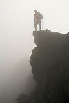 summit of Mount Pico (2351 m) in the fog.