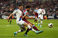 Felipe Anderson of West Ham United and Joel Ward of Crystal Palace during West Ham United vs Crystal Palace, Premier League Football at The London Stadium on 5th October 2019