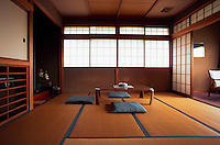 Room at traditional Japanese inn, Shirone, Ryokan Asakura