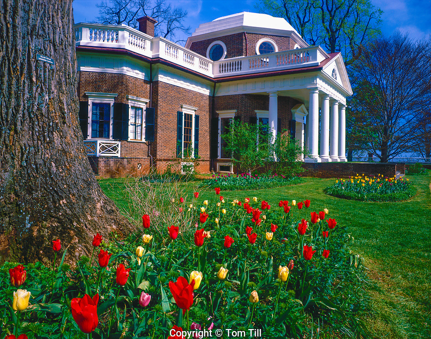 Monticello and grounds, Charlottesville , Virginia, Home of THomas Jefferson, UNESCO World Heritage Site