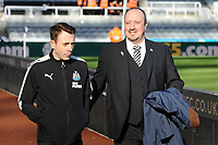 Newcastle United manager Rafa Benítez arrives at St James' Park  during Newcastle United vs Manchester United, Premier League Football at St. James' Park on 11th February 2018