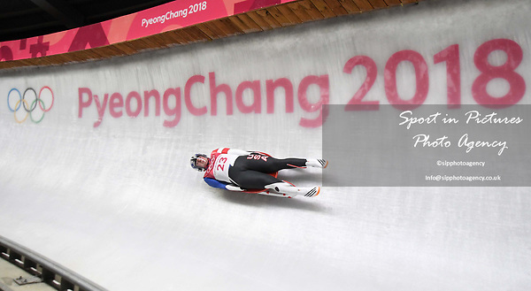 Taylor Morris (USA). Mens luge. Pyeongchang2018 winter Olympics. Alpensia sliding centre. Alpensia. Gangneung. Republic of Korea. 11/02/2018. ~ MANDATORY CREDIT Garry Bowden/SIPPA - NO UNAUTHORISED USE - +44 7837 394578