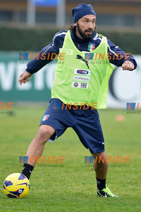 Andrea Pirlo.05/02/2013 Coverciano .Allenamento Nazionale Italia.Training .Foto Alfredo Falcone Insidefoto .