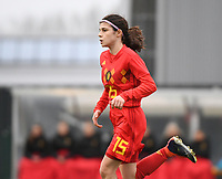 20181205 - TUBIZE , BELGIUM : Belgian Manola Galofaro pictured during the friendly female soccer match between Women under 15 teams of  Belgium and Gemany , in Tubize , Belgium . Wednesday 5 th December 2018 . PHOTO SPORTPIX.BE / DIRK VUYLSTEKE