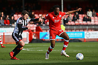 Matty Willock of Crawley Town and Elliot Embleton of Grimsby Town during Crawley Town vs Grimsby Town, Sky Bet EFL League 2 Football at Broadfield Stadium on 9th March 2019