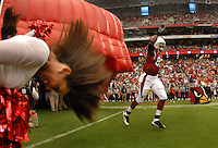 Aug 18, 2007; Glendale, AZ, USA; Arizona Cardinals tight end Leonard Pope (82) against the Houston Texans at University of Phoenix Stadium. Mandatory Credit: Mark J. Rebilas-US PRESSWIRE Copyright © 2007 Mark J. Rebilas