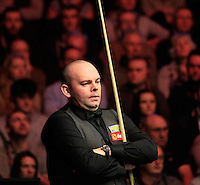 Stuart Bingham watches on during the Dafabet Masters Q/F 4 match between John Higgins and Stuart Bingham at Alexandra Palace, London, England on 15 January 2016. Photo by Liam Smith / PRiME Media Images