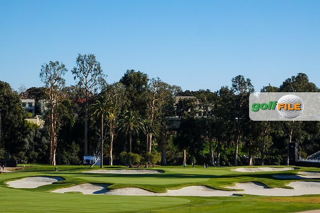 A general view of the 10th green during previews of the The Genesis Invitational, Riviera Country Club, Pacific Palisades, Los Angeles, USA. 10/02/2020<br /> Picture: Golffile | Phil Inglis<br /> <br /> <br /> All photo usage must carry mandatory copyright credit (© Golffile | Phil Inglis)