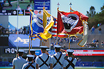 September 10, 2016 - Colorado Springs, Colorado, U.S. - Air Force honor guard presents the colors prior to the NCAA Football game between the Georgia State Panthers and the Air Force Academy Falcons, Falcon Stadium, U.S. Air Force Academy, Colorado Springs, Colorado.  Air Force defeats Georgia State 48-14.