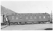 Business car B-3 (2nd) in Durango, CO.  In 1949 B-3 (2nd) was named &quot;General W. J. Palmer.&quot;  In 1958 the name was changed to &quot;Nomad.&quot;<br /> D&amp;RGW  Durango, CO  Taken by Maxwell, John W. - 5/31/1958