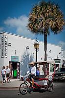 Rick-shaw bike taxi in Key West, Florida Keys, Florida, USA, Feb. 22, 2011... Photo by Debi Pittman