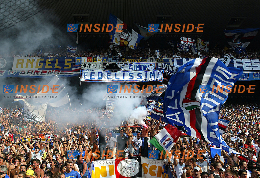 Genova 19/07/2003 <br /> Presentation of UC Sampdoria 2003/2004<br /> Sampdoria Fans
