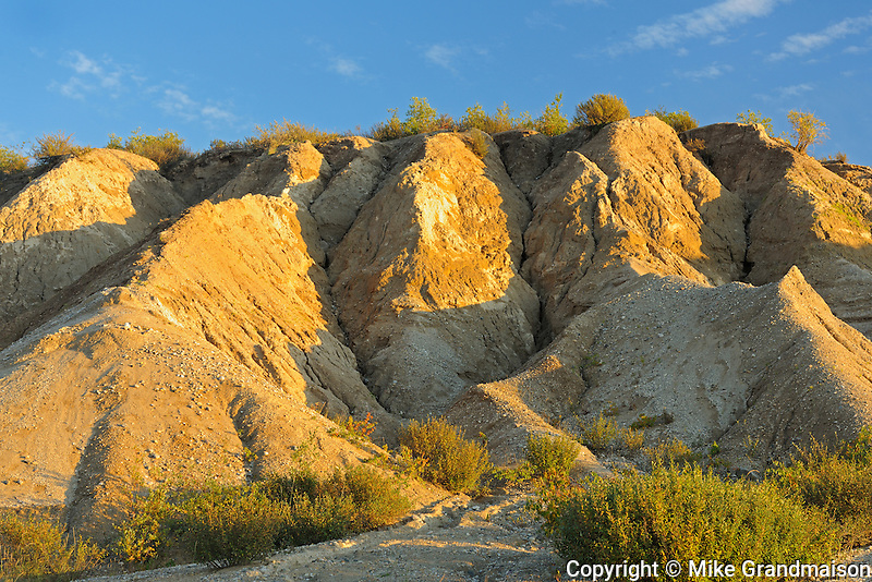 Eroded land at sunset<br /> Gillam Road<br /> Manitoba<br /> Canada