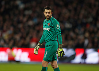28th December 2019; London Stadium, London, England; English Premier League Football, West Ham United versus Leicester City; Goalkeeper Lukasz Fabianski of West Ham United looks on  - Strictly Editorial Use Only. No use with unauthorized audio, video, data, fixture lists, club/league logos or 'live' services. Online in-match use limited to 120 images, no video emulation. No use in betting, games or single club/league/player publications
