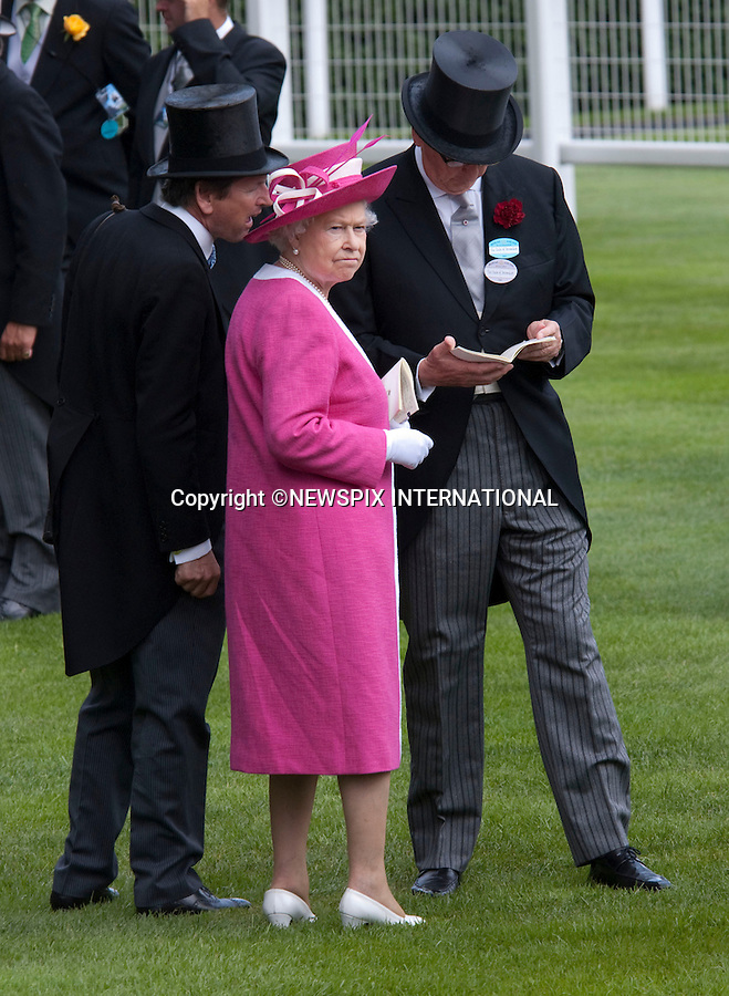 """QUEEN.attends the second day of racing at the Royal Ascot Meeting, Ascot_17/06/2009.Mandatory Photo Credit: ©Dias/Newspix International..**ALL FEES PAYABLE TO: """"NEWSPIX INTERNATIONAL""""**..PHOTO CREDIT MANDATORY!!: NEWSPIX INTERNATIONAL(Failure to credit will incur a surcharge of 100% of reproduction fees)..IMMEDIATE CONFIRMATION OF USAGE REQUIRED:.Newspix International, 31 Chinnery Hill, Bishop's Stortford, ENGLAND CM23 3PS.Tel:+441279 324672  ; Fax: +441279656877.Mobile:  0777568 1153.e-mail: info@newspixinternational.co.uk"""