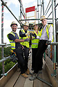 ***FREE PHOTO FOR EDITORIAL USE***<br /> <br /> 09/06/15<br /> <br /> L/R: Akil Sylia, Sebastian Iwaniuk, Lesley Blackman and<br /> Jamie Prior... <br /> <br /> Lotto jackpot winner, Lesley Blackman, joins builders in Southampton to celebrate the building trade being declared the country's luckiest profession, according to The National Lottery's top secret winners database.<br />  <br /> All Rights Reserved: F Stop Press Ltd. +44(0)1335 418629   www.fstoppress.com.