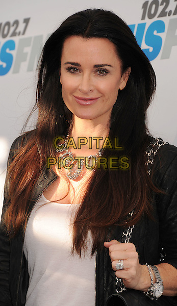 Kyle Richards.102.7 KIIS FM's Wango Tango at The Home Depot Center in Carson, California, USA..May 12th, 2012.half length black jacket white top necklace  .CAP/ROT/TM.©Tony Michaels/Roth Stock/Capital Pictures