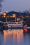 Sternwheeler ?Willamette Queen? and Salem's Riverfront Carousel; Riverfront Park, Salem, Oregon.