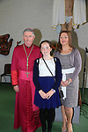 Gwen O'Brien .after being confirmed by Bishop Michael Smith in Julianstown Church with Ann Marie O'Brien.Picture:  www.newsfile.ie ..