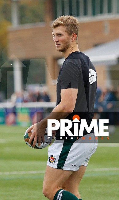 Ealing's Aled Jenkins seen in the warm up during the Greene King IPA Championship match between Ealing Trailfinders and Bedford Blues at Castle Bar , West Ealing , England  on 29 October 2016. Photo by Carlton Myrie / PRiME Media