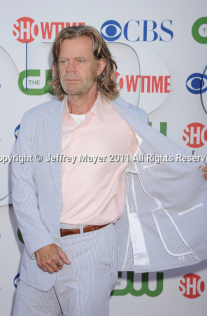 BEVERLY HILLS, CA - AUGUST 03: William H. Macy arrive at the TCA Party for CBS, The CW and Showtime held at The Pagoda on August 3, 2011 in Beverly Hills, California.