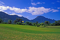 Mid pacific golf course with Ko'olau mountains, Lanikai, O'ahu