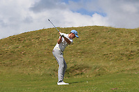 Robert Brazill (Naas) on the 2nd during the Final of the AIG Irish Amateur Close Championship 2019 in Ballybunion Golf Club, Ballybunion, Co. Kerry on Wednesday 7th August 2019.<br /> <br /> Picture:  Thos Caffrey / www.golffile.ie<br /> <br /> All photos usage must carry mandatory copyright credit (© Golffile | Thos Caffrey)