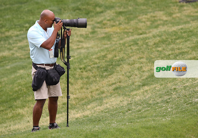 14 MAY 14  Mexican diplomat turned photographer Gabe Roux shooting The Kingsmill Resort River Course in Williamsburg, Virginia. (photo credit : kenneth e. dennis/kendennisphoto.com)