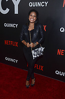 NEW YORK, NY - SEPTEMBER 12: Sheinelle Jones attends the New York Premiere of Netflix&rsquo;s Quincy at The Museum of Modern Art on September 12, 2018 in New York City. <br /> CAP/MPI/RH<br /> &copy;RH/MPI/Capital Pictures