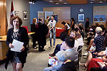 New Canadian citizens receiving their Citizenship certificates from the judge in a Citizenship ceremony venue in Vancouver, British Columbia, Canada 2018 Image © MaximImages, License at https://www.maximimages.com