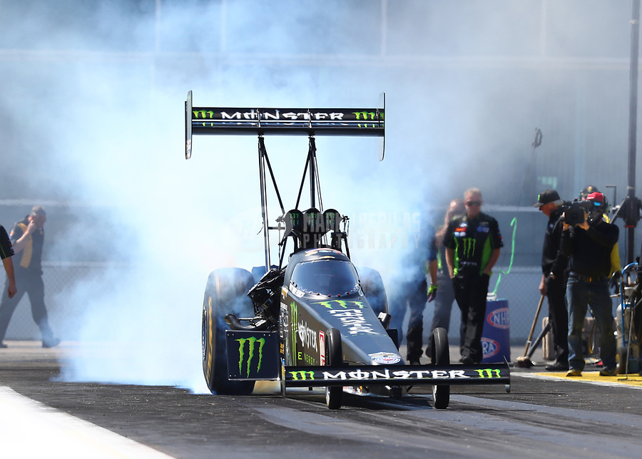 Mar 17, 2017; Gainesville , FL, USA; NHRA top fuel driver Brittany Force during qualifying for the Gatornationals at Gainesville Raceway. Mandatory Credit: Mark J. Rebilas-USA TODAY Sports