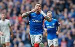 28.04.2019 Rangers v Aberdeen: James Tavernier celebrates no 2