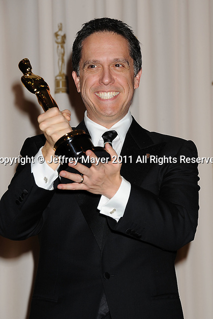 HOLLYWOOD, CA - FEBRUARY 27: Lee Unkrich poses in the press room during the 83rd Annual Academy Awards held at the Kodak Theatre on February 27, 2011 in Hollywood, California.
