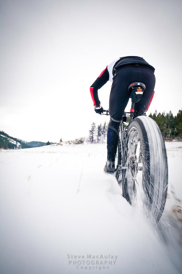 Fat Biking Snow Biking, Missoula, MT.