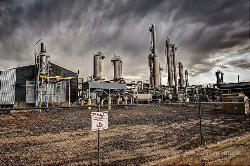 The gas compressor station at Lybrook, New Mexico, one of the centers of natural gas production in the four-corners region.