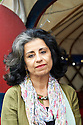 Ahdaf Soueif,Egyptian  Novelist and writer  at The Edinburgh International Book Festival 2011.  Credit Geraint Lewis