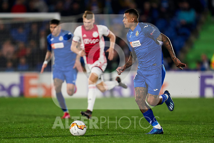Kenedy of Getafe FC during UEFA Europa League match between Getafe CF and AFC Ajax at Coliseum Alfonso Perez in Getafe, Spain. February 20, 2020. (ALTERPHOTOS/A. Perez Meca)