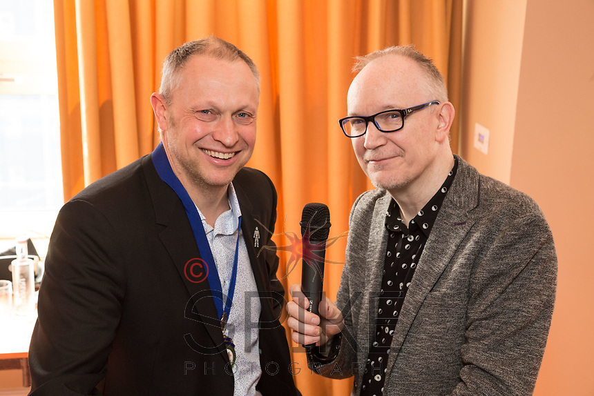 NCBC President Mark Deakin (left) with keynote speaker and Radio Consultant David Lloyd