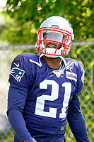 August 1, 2017: New England Patriots cornerback Malcolm Butler (21) makes his way to the practice field at the New England Patriots training camp held at Gillette Stadium, in Foxborough, Massachusetts. Eric Canha/CSM