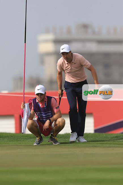 Ross Fisher (ENG) on the 8th during Round 2 of the Omega Dubai Desert Classic, Emirates Golf Club, Dubai,  United Arab Emirates. 25/01/2019<br /> Picture: Golffile | Thos Caffrey<br /> <br /> <br /> All photo usage must carry mandatory copyright credit (&copy; Golffile | Thos Caffrey)