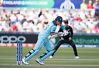 Joe Root (England) guides to this man during England vs New Zealand, ICC World Cup Cricket at The Riverside Ground on 3rd July 2019
