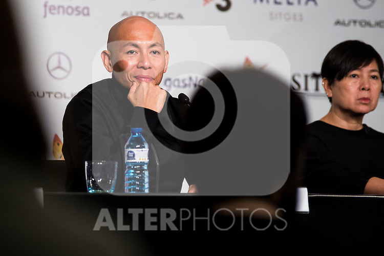 "Hongkonger director Dante Lam and the producer Candy Leung during the press conference of the presentation of the film ""Operation Mekong"" at Festival de Cine Fantastico de Sitges in Barcelona. October 10, Spain. 2016. (ALTERPHOTOS/BorjaB.Hojas)"