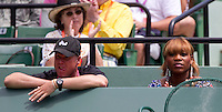Serena Williams watches Kim CLIJSTERS (BEL) against Venus WILLIAMS (USA) in the final of the women singles. Kim Clijsters beat Venus WIlliams 6-2 6-1..International Tennis - 2010 ATP World Tour - Sony Ericsson Open - Crandon Park Tennis Center - Key Biscayne - Miami - Florida - USA - Wed 24 Mar 2010..© Frey - Amn Images, Level 1, Barry House, 20-22 Worple Road, London, SW19 4DH, UK .Tel - +44 20 8947 0100.Fax -+44 20 8947 0117