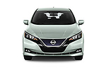 Car photography straight front view of a 2018 Nissan Leaf SV 5 Door Hatchback