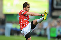 Danny Cipriani of Gloucester Rugby kicks for touch during the Gallagher Premiership Rugby match between Bath Rugby and Gloucester Rugby at The Recreation Ground on Saturday 8th September 2018 (Photo by Rob Munro/Stewart Communications)