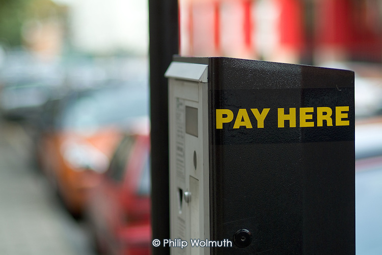 Pay and Display parking machine, Camden, London.
